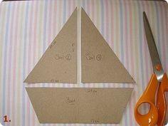 Ideas para el hogar: Barcos con relleno y de género estampados molde y costura sencilla