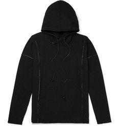 Isabel Benenato Embroidered Loopback Jersey Hoodie In Black Fashion Advice, Fashion News, Mens Fashion, Margiela Sneakers, Mr Porter, Designer Clothes For Men, White Embroidery, Black Hoodie, Black Jeans