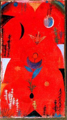 Flower Myth  Artista: Paul Klee Ubicación: Sprengel Museum Fecha de creación: 1918 Técnica: Acuarela, Pintura al pastel