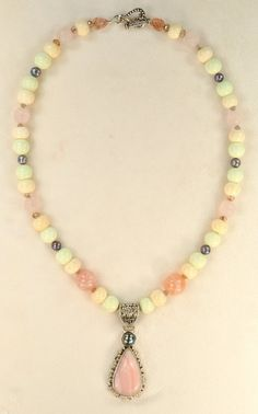 The Pastel Cloud  #Necklace by lovebeadsbyjp on Etsy, $135.00