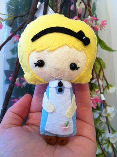 Alice in wonderland  custom made felt doll  by LullabyMobiles