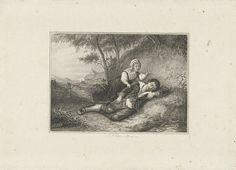 Jan Baptist Tetar van Elven   Slapende jongen, Jan Baptist Tetar van Elven, 1815 - 1889  