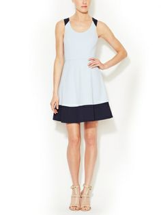 Kamira Contrast A-Line Scoopneck Dress by Ali Ro on sale now on #Gilt. #Style #fashion