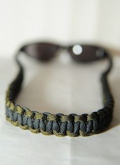 Para cord eyeglass Cord. Use gutted paracord for low weight and bulk.