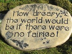 Fairy garden sign Decorative Outdoor plaque with fairy quote by Poemstones
