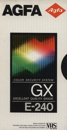 .design retrô: VHS Agfa