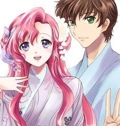 Princess Euphemia & Suzaku, Code Geass They look so cute, I've haven't seen or read Code Geass yet