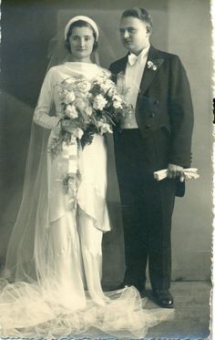 Celina Szerejko and Roman Gzell, April 21, 1935, Warsaw, Poland.