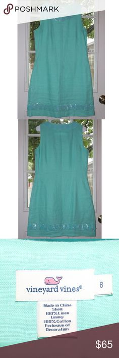 458fc979be Vineyard Vines Dress Mint green vineyard Vines dress perfect for a wedding  or other formal event. Looks great with nice earrings, a simple necklace and  tan ...
