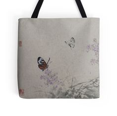 """""""Butterfly Lover"""" Tote Bags by aplcollections 