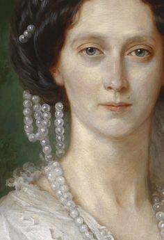 Details of Portraits by Franz Xaver Winterhalter