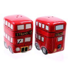 Routemaster Doubledecker bus salt & pepper set !FREE UK P&P!