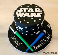 Gâteau Star Wars pour un anniversaire! A Star Wars cake for a birthday!