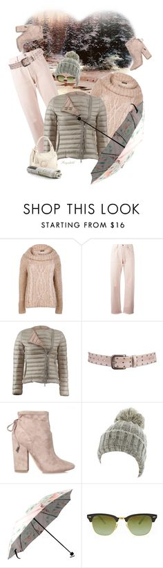"""""""Perfect Puffer Jacket"""" by ragnh-mjos ❤ liked on Polyvore featuring Boohoo, Citizens of Humanity, Moncler, Aventura, Kendall + Kylie, Kate Marie, Ray-Ban and Chanel"""