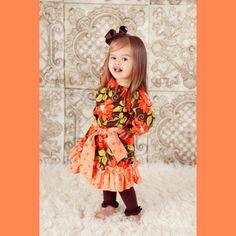 Orange Bella Flora Peasant Dress $34