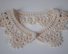 Detachable crochet peter pan collar