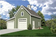 detached garage plans 2 car | Two-story Detached Garage (HWBDO10743) | Bungalow House Plan from