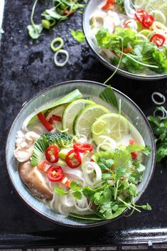 This 20 Minute Green Thai Curry Noodle Soup is the perfect dish when you don't have much time, but still want a nourishing and delicious meal.
