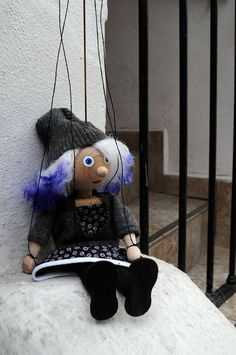 Hipster girl Violet Marionette. Wire puppet for everyone who wants to have hipster at home ;) by CzechMarionettes on Etsy