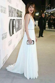 Dakota jonhson at the London premiere. #Fiftyshades