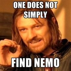 Ha ha! Lord of the Rings/Finding Nemo! There are so many memes involving Boromir!