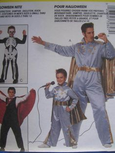 See Sally Sew-Patterns For Less - Elvis Musketeer Skeleton Halloween Stage Play Costume McCall's 7282 Pattern Child's Size 7, 8 , $12.00 (http://stores.seesallysew.com/elvis-musketeer-skeleton-halloween-stage-play-costume-mccalls-7282-pattern-childs-size-7-8/)