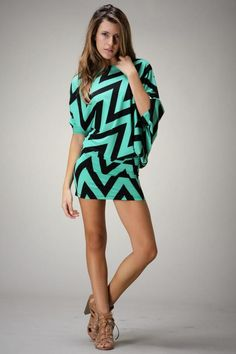 Zig Zag One Shoulder Mini dress