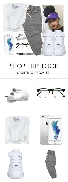 """""""something i threw on"""" by eniola29 ❤ liked on Polyvore featuring Retrò, Gildan, Sharpie and NIKE"""