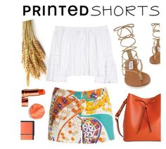 """Life is short & shorts are printed"" by asfuni ❤ liked on Polyvore featuring Steve Madden, Trina Turk, Lodis, Carolina Herrera, printedshorts and summerbrights"