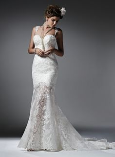 Wedding Dress Photos - Find the perfect wedding dress pictures and wedding gown photos at WeddingWire. Browse through thousands of photos of wedding dresses. Fit And Flare Wedding Dress, Perfect Wedding Dress, Boho Wedding Dress, Designer Wedding Dresses, Wedding Gowns, Lace Wedding, Mermaid Wedding, Wedding Bells, Grad Dresses