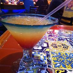 Tropical Sunrise Margarita @ Chili's Grill & Bar - Made with pineapple instead of sweet n sour.