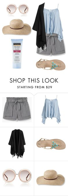 """""""Untitled #77"""" by monica-felicity ❤ liked on Polyvore featuring MANGO, Sans Souci, Acne Studios, Lilly Pulitzer, Chloé, L.L.Bean and Neutrogena"""