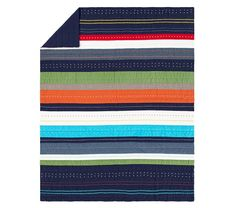 Bright Stripe Quilted Bedding | Pottery Barn Kids