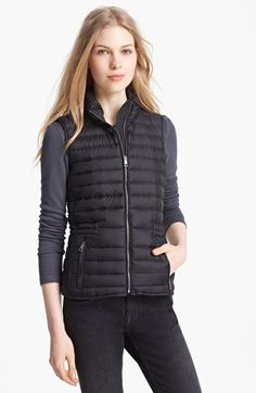Burberry Brit 'Cranmore' Goose Down Vest available at #Nordstrom