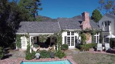 Brookside: A New England-Style Farmhouse For Sale in Montecito | hookedonhouses.net