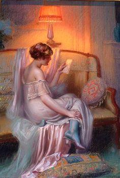 Delphin Enjolras (French, 1857-1945) - The Letter