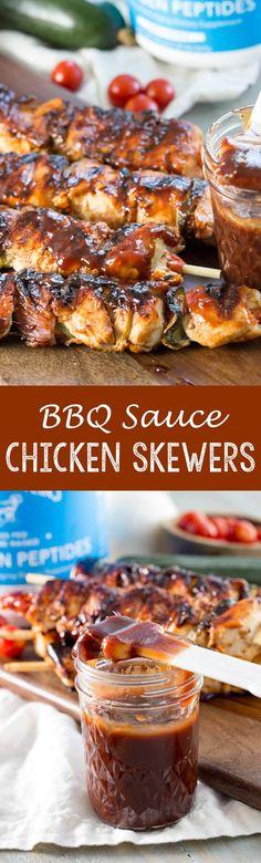BBQ Chicken Skewers (Homemade BBQ Sauce)