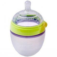 Como Tomo Natural-Feel Baby Bottle -Green Single 5 oz