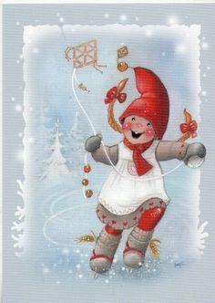 Thank you Kaarina Toivanen Christmas Drawing, Christmas Love, Christmas Pictures, Vintage Christmas, Christmas Crafts, Illustration Noel, Winter Illustration, Christmas Illustration, Illustrations