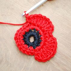 Crochet Flower Patterns Get those hooks out. here's a free Remembrance Poppy Crochet Pattern. - Get those hooks out. here's a free Remembrance Poppy Crochet Pattern. Poppy Crochet, Crochet Poppy Free Pattern, Marque-pages Au Crochet, Crochet Puff Flower, Crochet Motifs, Crochet Flower Patterns, Love Crochet, Crochet Crafts, Crochet Flowers