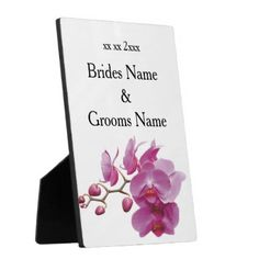 Orchids Inexpensive Wedding Packages Sets Kits Plaque - bride gifts bridal ideas unique personalize