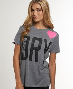 Womens - Whisp T-shirt in Grey Marl | Superdry