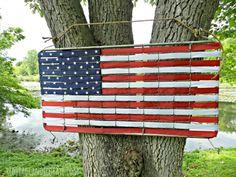DIY American Flag www.spaceshipsandlaserbeams.com