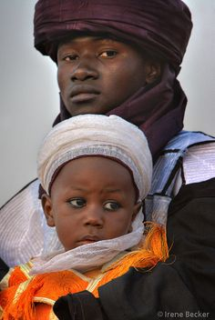 Africa |  People.  Father and Son photographed in Argungu, Kebbi, Nigeria.