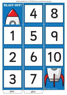 Teacher's Pet - Folding Number Lines - FREE Classroom Display Resource - EYFS, KS1, KS2, rockets, crocodiles, trains, giraffe, numberline, count, down