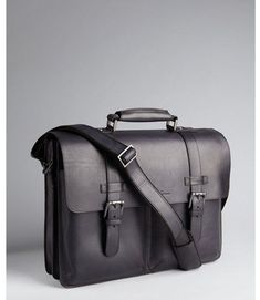 603fcc517ccc Black Leather Briefcase by Kenneth Cole. Buy for  309 from Bluefly Black Leather  Briefcase