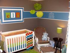 my boy's nursery - bright colors