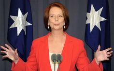 "Prime Minister Julia Gillard ""needs to man up"", according to one British blogger."