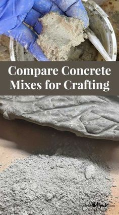Compare Concrete Mixes for Crafting - Made By Barb - which concrete to use? - concrete mixes – Choose which concrete mix is best for what you want to make - Cement Art, Concrete Garden, Concrete Planters, Diy Planters, Concrete Cement, Concrete Crafts, Concrete Furniture, Polished Concrete, Urban Furniture