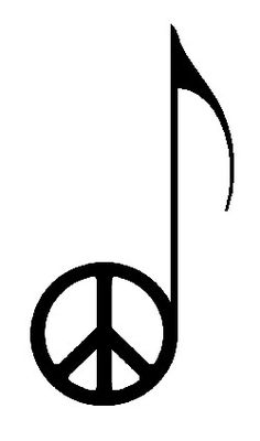 If I ever decide to get a tattoo it will probably be something like this - peace and music - perfect.